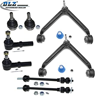 DLZ 8 Pcs Front Suspension Kit-2 Upper Control Arm Ball Joint 2 Lower Ball Joint 2 Outer Tie Rod End 2 Sway Bar Compatible with 2002 2003 2004 2005 Dodge Ram 1500 4WD 4X4