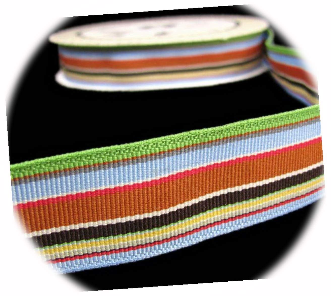 New 25 Yds Fancy Pants Rough and Today's only G Green Stripe Tough Blue High quality new Brown