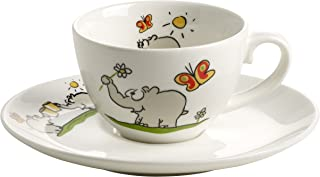 Ritzenhoff Otto Espresso Cup with Saucer, Ottifant, Coffee Cup, Porcelain, 60 ml, Design 2013, Otto Waalkes, OW-0008