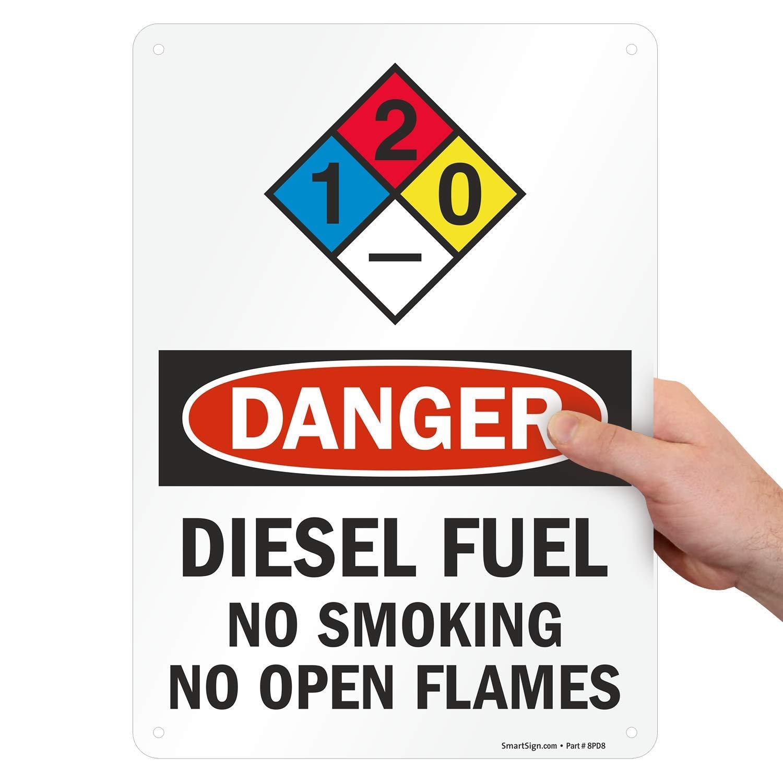 "11/"" X 6/""  METAL SIGN DANGER DIESEL FUEL FUMES GARAGE PETROL WARNING CAUTION"