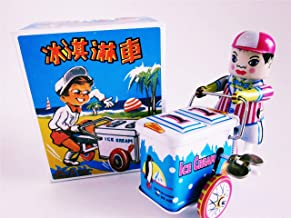 Unbranded ICE Cream Vendor Bicycle Bike Trike cart VTG Wind-UP Retro Tin Litho New in Box for Ages 14+