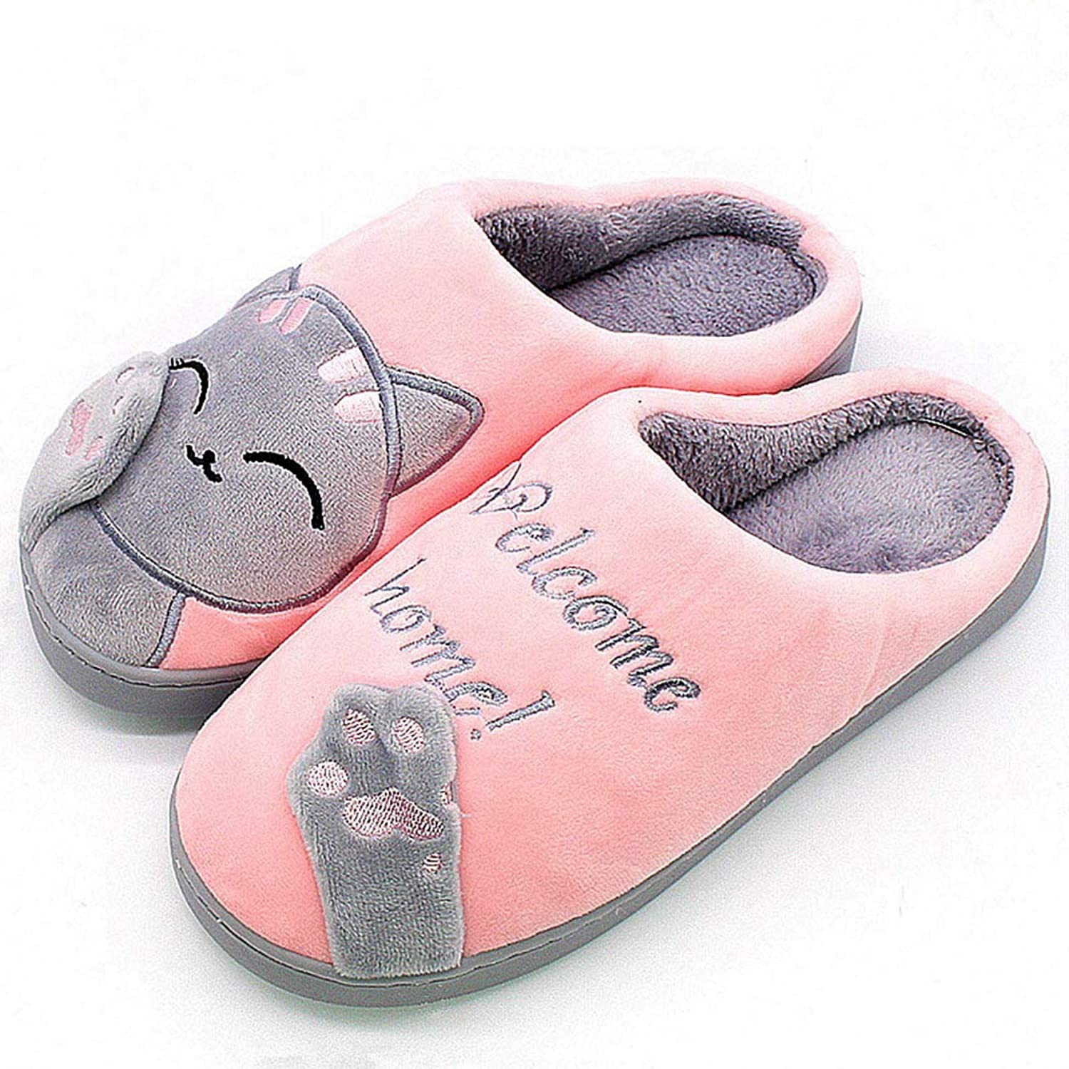 Nafanio Winter Warm Cut Slippers Home Women Arch Support Memory Foam Indoor Plush Female Animal Ladies shoes