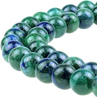 JARTC Natural Ston Beads Phoenix Lapis Lazuli Round Loose Beads for Jewelry Making DIY Bracelet Necklace (10mm)