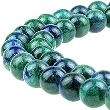 JARTC Natural Ston Beads Phoenix Lapis Lazuli Round Loose Beads for Jewelry Making DIY Bracelet Necklace (8mm)
