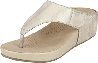 Mode By Red Tape Women's Gold Fashion Sandals- 6.5 UK (40 EU) (MRL122)