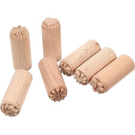 Timbre de poterie dargile en bois 16 pi/èces outils de poterie timbres argile timbre d/écoratif timbres sculpt/és /à la main h/être bricolage argile poterie blocs dimpression artisanat accessoires