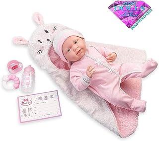 "JC Toys - La Newborn Nursery   8 Piece Bunting Soft Body Baby Doll Gift Set   15.5"" Life-Like Soft and Posable Newborn Dol..."