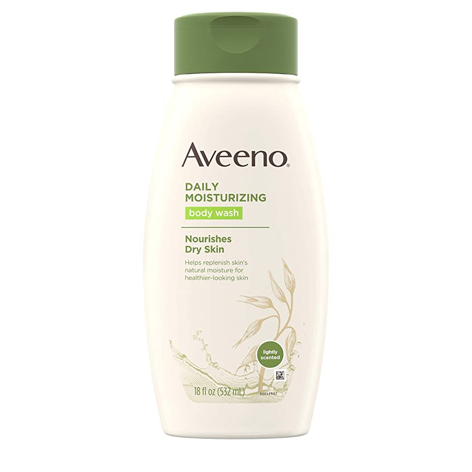 勤勉メールを書く彫るAveeno Daily Moisturizing Body Wash - 18 Oz by Aveeno