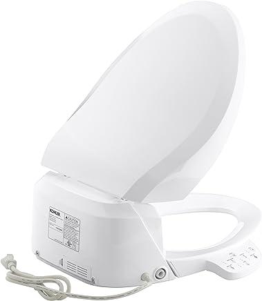 KOHLER C3-125 - Asiento de inodoro alargado con tapa y función de bidé, Una talla, Blanco