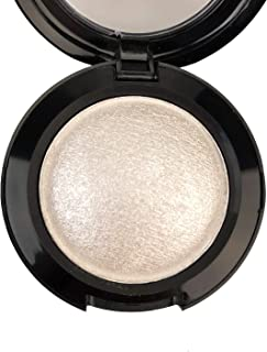 Mallofusa Single Color Baked Eye Shadow Palette Glitter Powder ,Ice Silver,CES3810