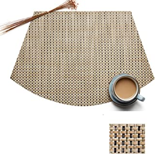 vinmax Set of 4 Wedge Placemats Set for Round Tables Waterproof Placemats PVC Heat Resistant Table Mats Pads (Bamboo Green, 4)