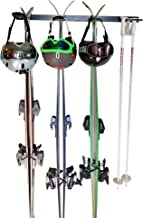 Insight Wall Mounted Ski Rack or Utility Rack - for 4 Pairs of Skis, or Garden & Lawn Tools