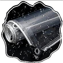 PENGFEI Transparant dekzeil Heavy Duty, 0.39mm PVC Clear Waterdichte Doek voor Outdoor Binnenplaats Tuin, Verdikte Regendi...