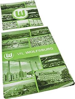 VfL Wolfsburg Bettwäsche Fotocollage Bezug 135 x 200cm Kissen 810 x 80 cm 100% Baumwolle mit Reisverschluss