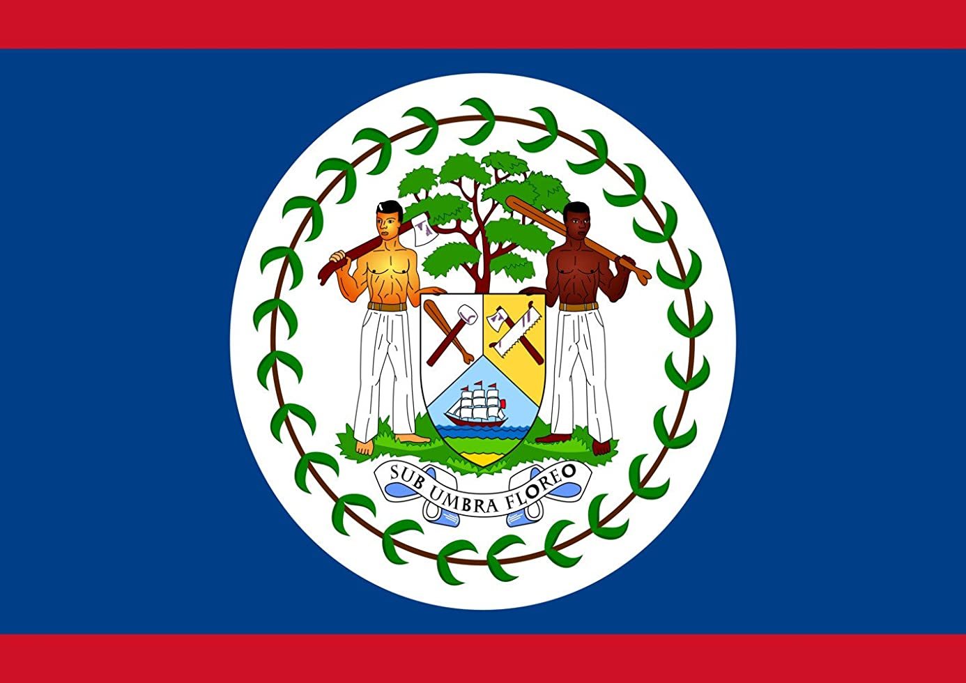 Toland Home Garden Flag of Belize 12.5 x 18 Inch Decorative Country Nation Garden Flag vuu2192257