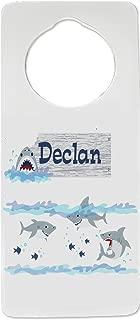MyBambino Personalized Shark Tank Nursery Door Hanger for Kids Room