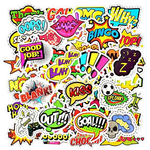 Rabusion New for 50pcs/set Fashion Style Text Sticker Toys DIY Scrapbook Laptop Car Decoration