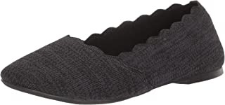 Women's Cleo-Newford-Scalloped Knit Skimmer Ballet Flat