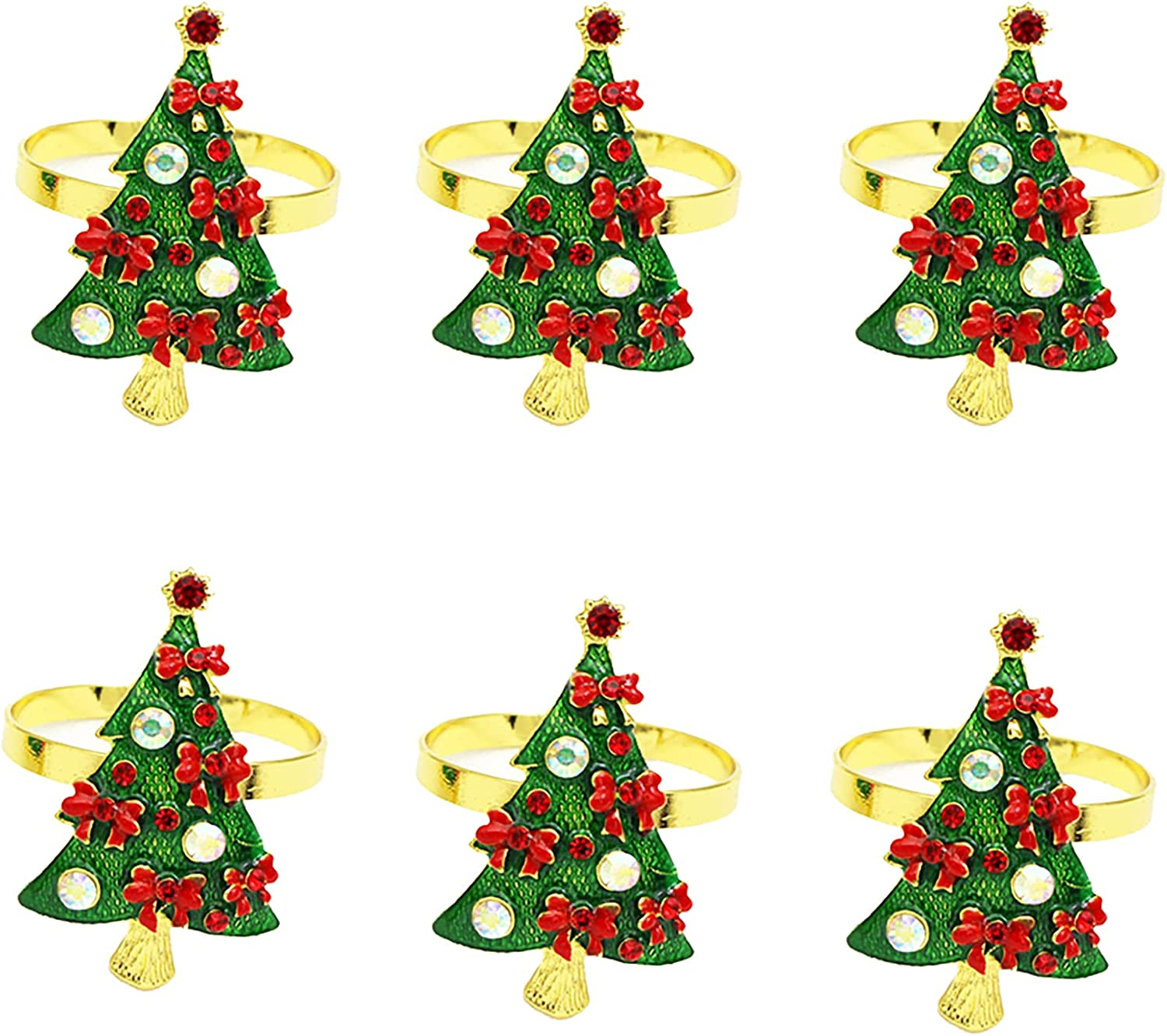 Napkin 5% OFF Max 41% OFF Rings 6 Pack Metal Harvest Christmas Tree Ring F