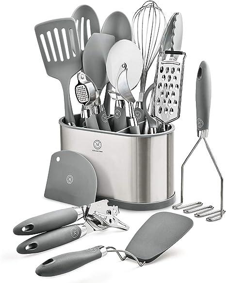 Amazon Com Martha Stewart Collection 16 Piece Kitchen Utensil Set Kitchen Dining