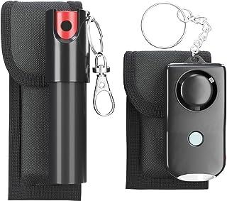 اسپری فلفل ARMADILLO DEFENSE و زنگ هشدار شخصی همراه با یک کیف - بسته زنجیره ای کلیدی (2 بسته) برای محافظت و دفاع از خود ، محافظتی برای زنان و مردان ، دکمه گاز اشک آور و هراس
