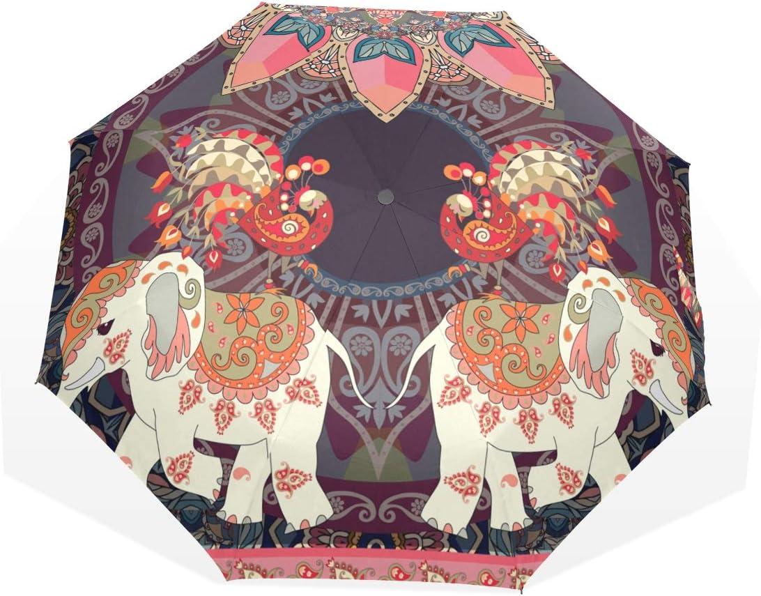 CiCily Compact Folding Umbrella Floral Fixed price for sale Prota Elephant Don't miss the campaign Sun Rain