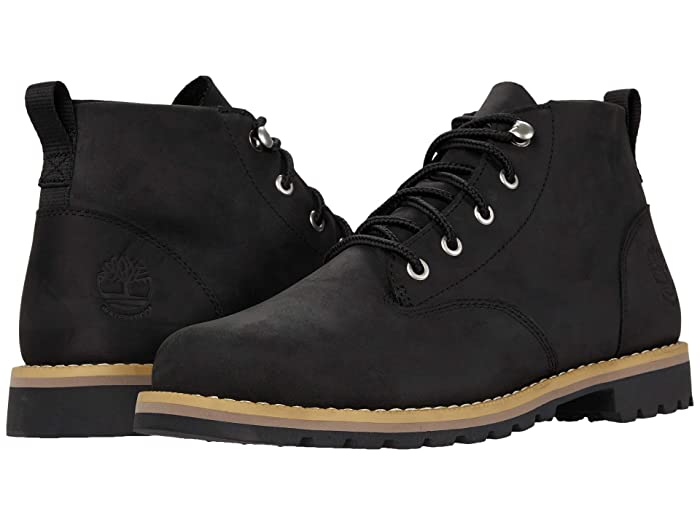 Mens Vintage Shoes, Boots | Retro Shoes & Boots Timberland Redwood Falls Waterproof Chukka Black Full Grain Mens Boots $130.00 AT vintagedancer.com