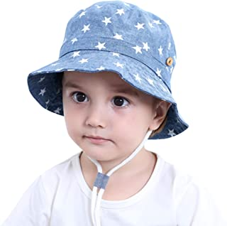 c303c9083 ANIMQUE Sombrero Denim con Estrellas para bebé, protección UV, Sombrero de  Sol de algodón