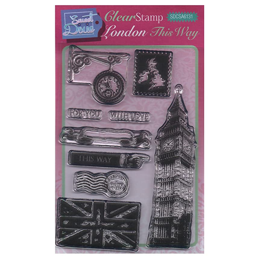 Sweet Dixie A6 Clear Stamp Set - SDCSA6131 London This Way