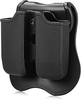 CYTAC Beretta 92 96 Magazine Pouch, Double Stack 9MM/.40 Mag Holder for Springfield XD/Sig Sauer 226, Tactical Daul Paddle Mag Holster