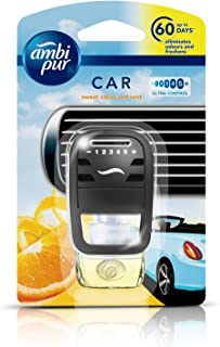 Ambi Pur Sweet Citrus and Zest Car Air Freshener Starter Kit (7.5 ml)