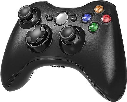 Diswoe Xbox 360 Inalámbrico Gamepad Controlador Joypad con Vibración Doble Ergonomía Windows 10/8.1/8/7/XP Bluetooth 10 Metros Mando Pare Microsoft Xbox 360