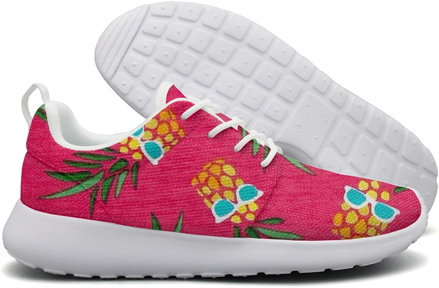 Pineapples With Glasses Pink Women's Net Fashion Running shoes Climbing Gift