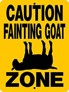 Goat Fainting Goat Decal Farm Metal Tin Signs for Home Bar Garage Fence Yard Office Sign