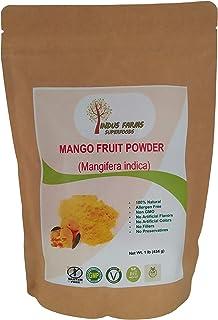 100% Natural Mango Fruit Powder, 1 LB, Eco-friendly Resealable pouch, No Artificial Flavors/Preservatives/Fillers, Halal, ...