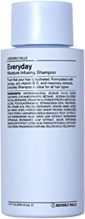 J Beverly Jills Blue Everyday Shampoo, Moisture Infusing Shampoo, 12 oz Bottle
