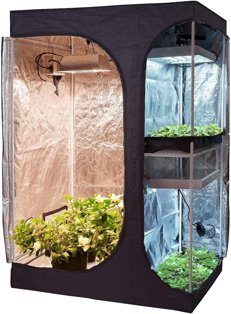 60''x48''x80'' Mylar Selling rankings Grow Tent w Removabl Superlatite Window Observation and