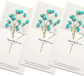 Handmade Dry Flower Thank you Card Greeting Cards Assortment - Deliver your heartfelt wishes with these pretty blank greeting cards with envelopes birthday thank you cards graduation thank you cards