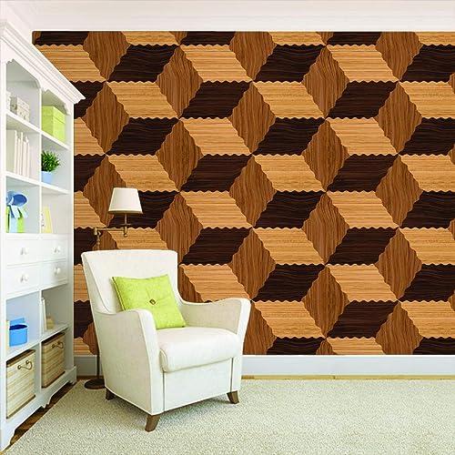 100yellow 3D Design Checked Printed Peel and Stick Decor Self Adhesive Wallpaper (PVC Vinyl, 26.7 Sq ft, Multicolour)