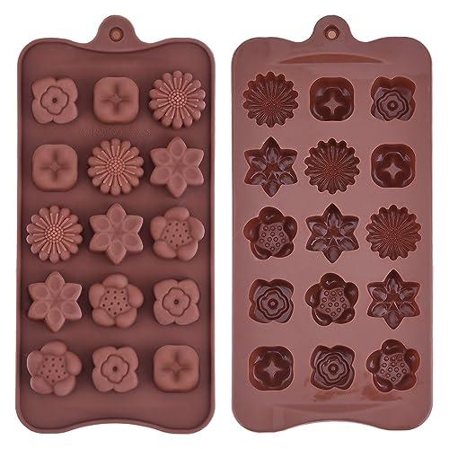 Molde de Silicona de Chocolate en Forma de Flor Molde de Bandeja de Jaleas Helados para