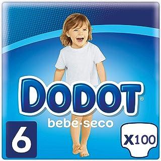 DODOT Bebé-Seco Pañales Talla 6, 100 Pañales, Pañal con
