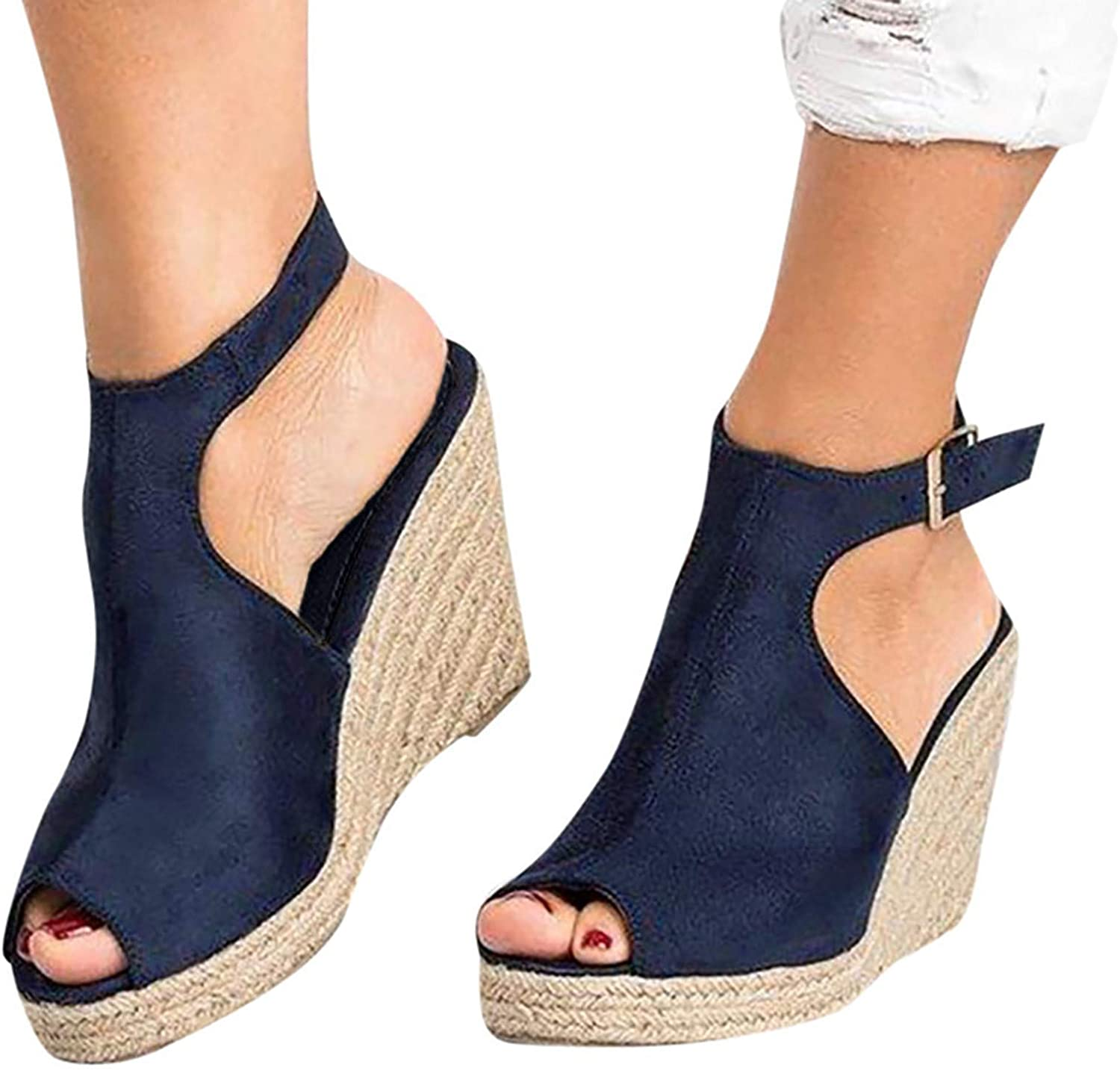 Sandals for Women Casual Summer, Sandals Women Flat Bowknot Ring Clip Toe Fashion Sandals Slippers Beach Shoes