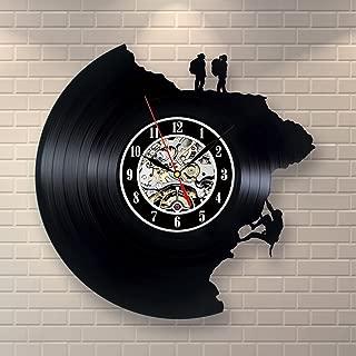 Climbing Decor Vinyl Record Clock Home Design Wall Art