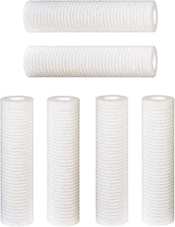 Complete Filtration Services 2.5 inch X 9.75 inch 5 Micron Grooved Dirt/Sediment Water Filter Cartridges Compatible with WHKF-GD05 & AP110 Quantity of 6