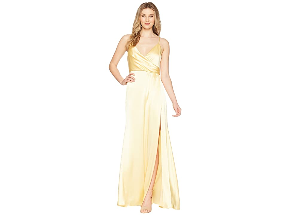 JILL JILL STUART Satin Back Crepe Slip Dress (Meringue) Women