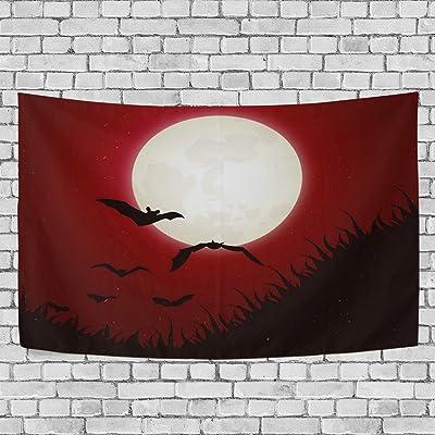 coosun naranja Halloween vampiro murciélago fondo tapiz ...