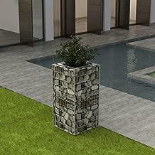 Tidyard Outdoor Garden Planter Raised Bed Gabion Stone Basket Steel Garden Decoration for Patio, Garden, Swimming Pool, Terrace
