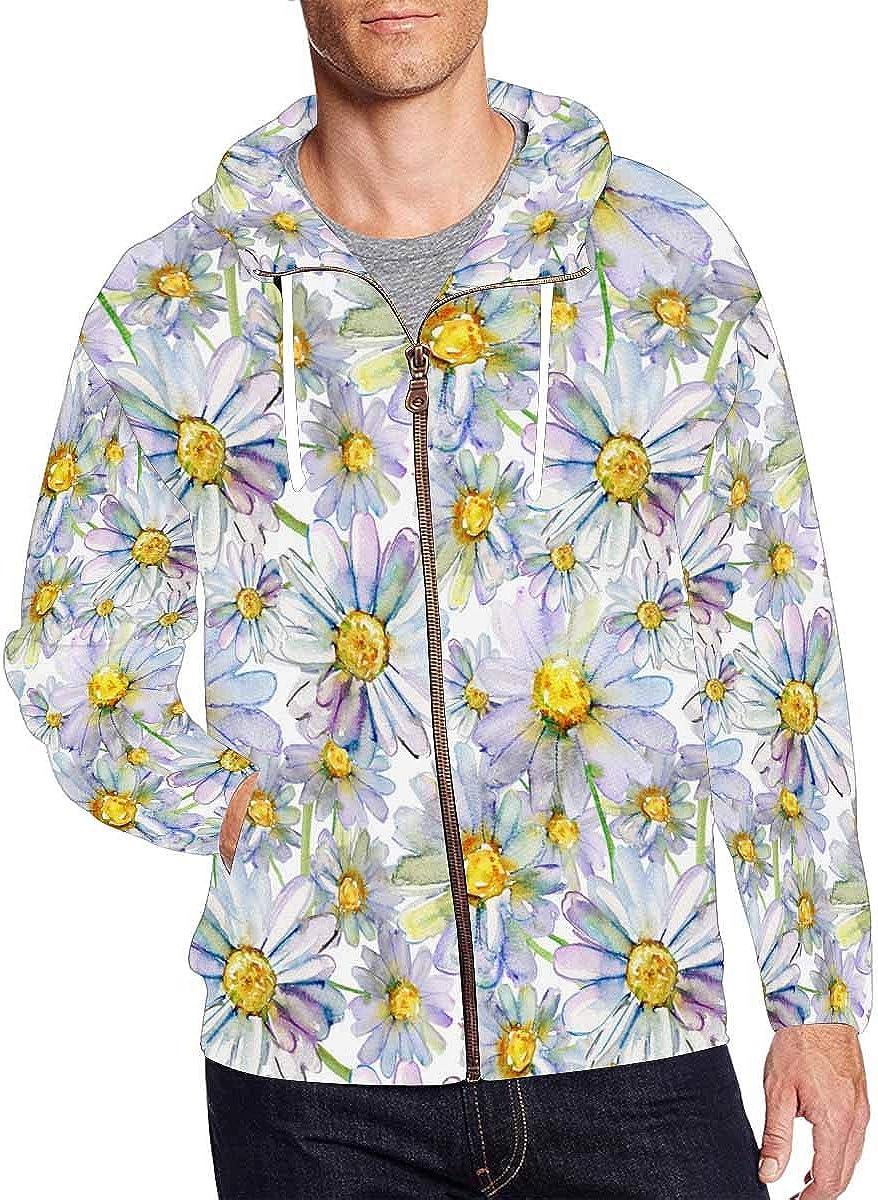 In a popularity InterestPrint Men's Full San Antonio Mall Zip Colorful Hoodies Sweatshirts Waterc
