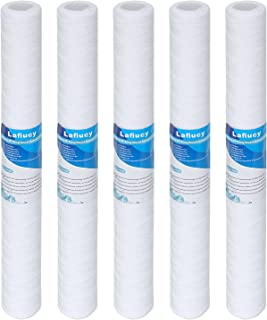 """Lafiucy 5 Micron 20"""" String Wound Sediment Water Filter Cartridge,5 Pack,for 20""""x 2.5"""" Water filter System"""
