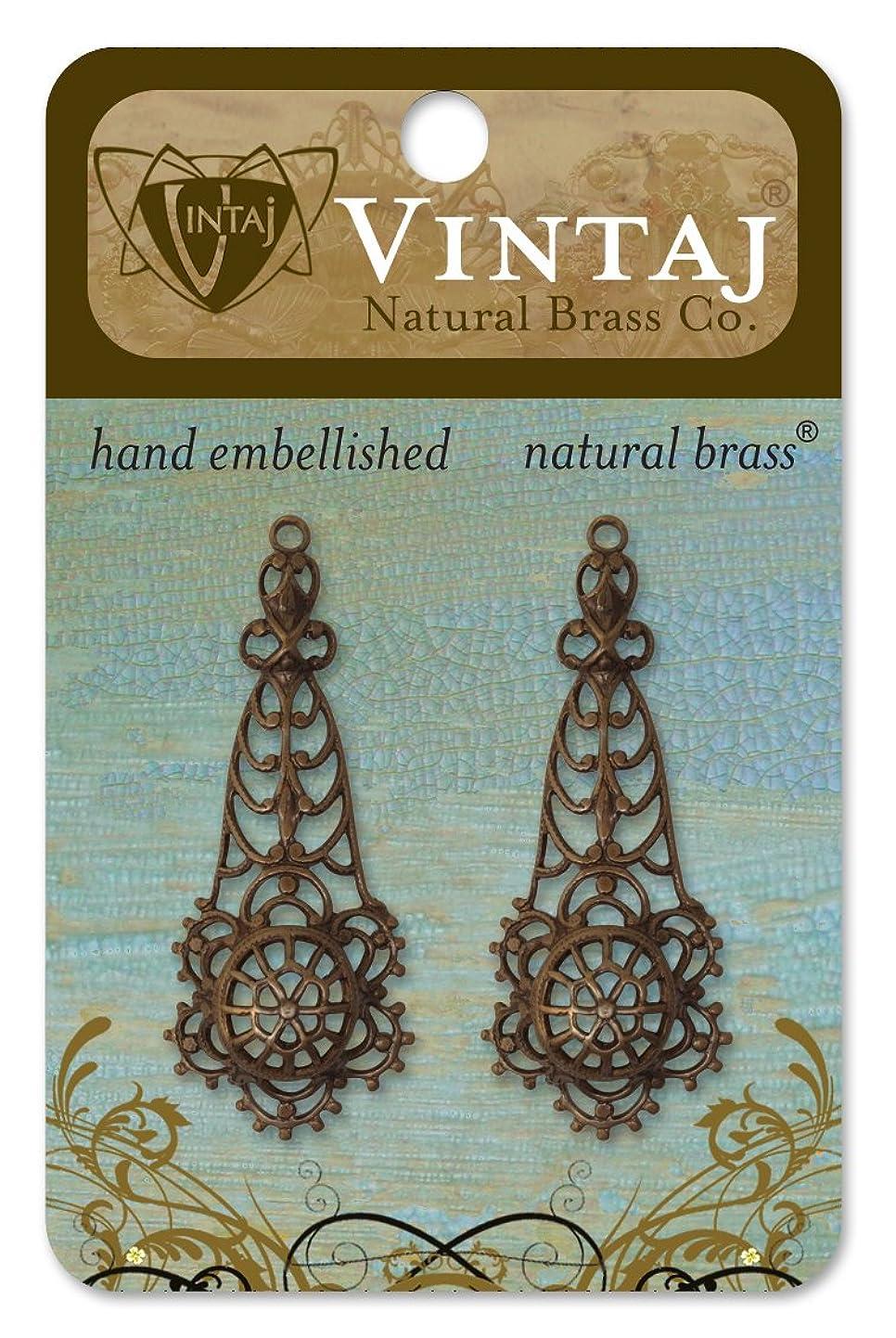 Vintaj 2-Piece Alchemy Decorative Pendant, 44 by 24mm lcztumradcb0